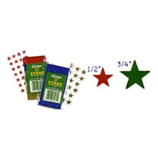 Stickers Foil Stars 1-2in Red 250pk