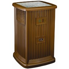 9 Gallon Pedestal Evaporative Air Whole House Humidifier with Decorative Tile Insert