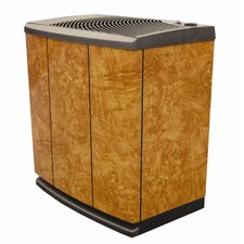 Console Style Evaporative Air Whole House Humidifier in Oak Burl