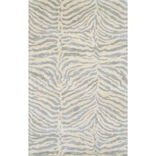 Norwalk Light Blue & Ivory Animal Print Area Rug
