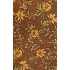 <strong>Bashian Rugs</strong> Verona Flower Chocolate Rug