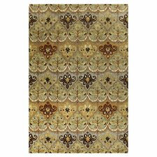 Wilshire Light Green Mural Rug