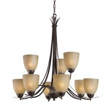 <strong>Woodbridge Lighting</strong> Kearney 9 Light Chandelier