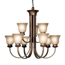 <strong>Woodbridge Lighting</strong> Dresden 9 Light Chandelier