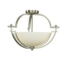 <strong>Woodbridge Lighting</strong> Aurora 3 Light Semi Flush Mount