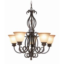 <strong>Woodbridge Lighting</strong> Fairhaven 5 Light Chandelier