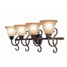 <strong>Woodbridge Lighting</strong> Fairhaven 4 Light Bath Vanity Light