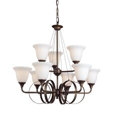 <strong>Woodbridge Lighting</strong> Fall River 9 Light Chandelier