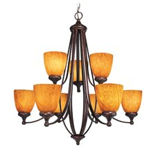 <strong>Woodbridge Lighting</strong> Kenshaw 9 Light Chandelier