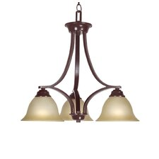 <strong>Woodbridge Lighting</strong> Marissa 3 Light Chandelier