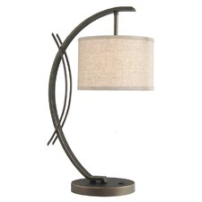 "Eclipse 21.75"" H Table Lamp with Drum Shade"
