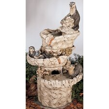 Nature Cast Stone Sea Otter Fountain