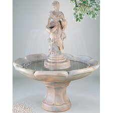Figurine Cast Stone Anne Petal Fountain