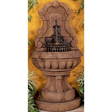 <strong>Henri Studio</strong> Wall Cast Stone Europe Murabella Scroll Fountain