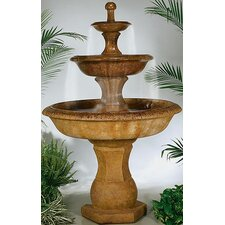<strong>Henri Studio</strong> Tiered Cast Stone Grande Barrington Waterfall Fountain