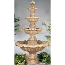 Four-Tier Cast Stone Renaissance Waterfall Fountain