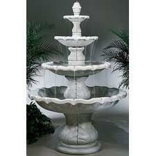 <strong>Henri Studio</strong> Four-Tier Cast Stone Classical Finial Waterfall Fountain