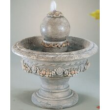 Tiered Cast Stone Roman Sphere Cascade Fountain