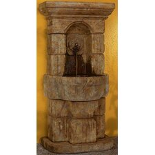 Wall Cast Stone Linari Rosette Fountain