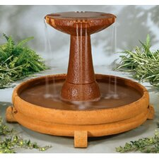 Cast Stone Overflowing Spill Dish Fountain