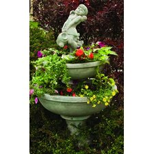 <strong>Henri Studio</strong> Cast Stone 3 Piece Blooming Saucer Tiered Fountain