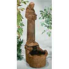 <strong>Henri Studio</strong> Figurine Cast Stone St. Francis Fountain
