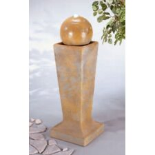 Centerpiece Cast Stone Sphere On Tall Pedestal Fountain