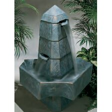 <strong>Henri Studio</strong> Centerpiece Cast Stone Abstract Obelisk Fountain