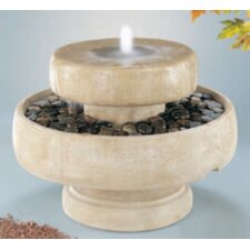 Centerpiece Cast Stone Millstone Cascade Fountain