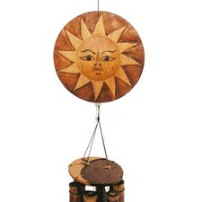 <strong>Cohasset Imports</strong> Natural Sun Moon Wind Chime