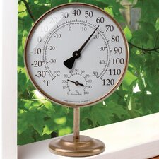 Vermont Portable Weather Station Thermometer in Brass