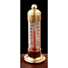 Vermont Desk Thermometer in Brass