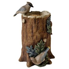 Tree Trunk Statuary Decorative Bird Feeder
