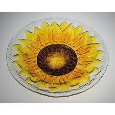 Sunflower Glass Bird Bath (Set of 2)