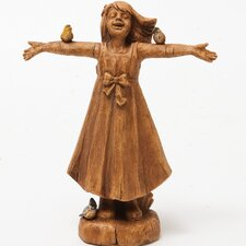 Joy Girl Rejoicing Statue