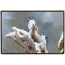 Downy Woodpecker Doormat