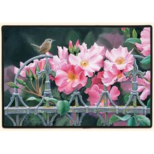 Wren and Pink Flowers Doormat