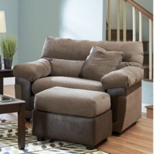 <strong>Klaussner Furniture</strong> Adrian Big Chair and Ottoman