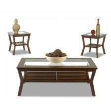 <strong>Klaussner Furniture</strong> Clifton 3 Piece Coffee Table Set