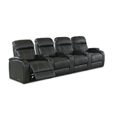 <strong>Klaussner Furniture</strong> Astor Place Home Theater Bonded Leather Recliner (Row of 4)