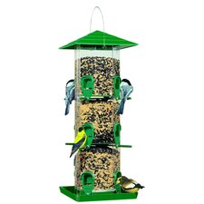 Grandview Seed Silo Bird Feeder with Tray