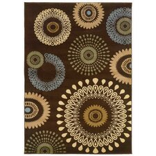 Adana Brown Kaleidoscopic Rug