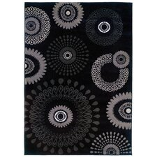 Adana Kaleidoscopic Charcoal Area Rug