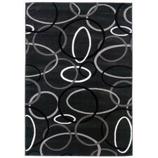 Adana Charcoal Rings and Ovals Rug