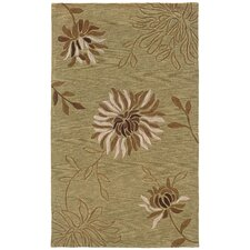 Fashion Sage Chrysanthemum Motif Rug