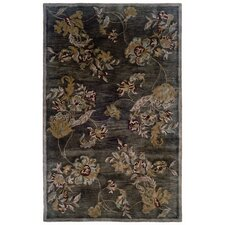 Majestic Chocolate Classical Florals Rug