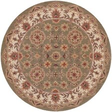 Shapes Green/Ivory Persian Rug