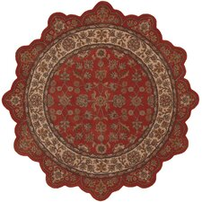 Shapes Brick/Ivory Persian Rug