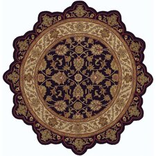 Shapes Black/Ivory Persian Rug