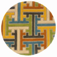 <strong>LR Resources</strong> Vibrance Beige Geometric Puzzle Rug